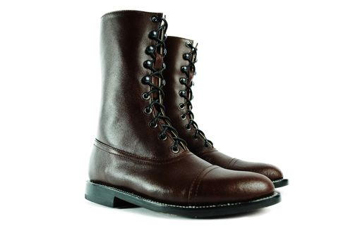 Custom Made Hesse Brown Pebbled Leather Goodyear Welt Balmoral Boots. (All Sizes)