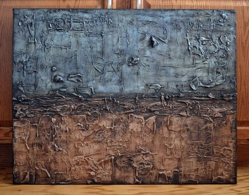 "Custom Made 24x30 Original Modern Textured Contemporary Abstract Painting By Alisha ""Blue Jeans & Boots"""