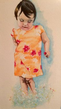 Custom Made Child Portrait Watercolor