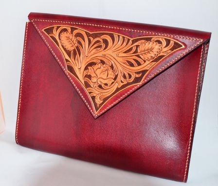 Custom Made Hand Carved Leather Ipad Case