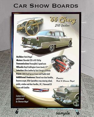 Custom Made Car Show Board Display - Automotive Art Signage