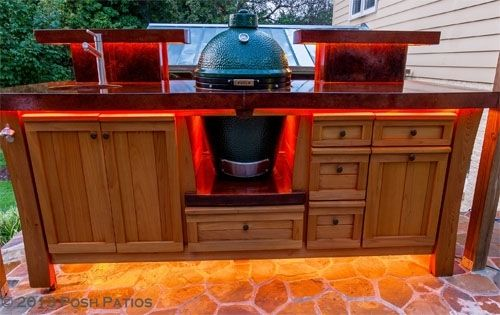 Custom Made Sweet Southern Class Big Green Egg Table