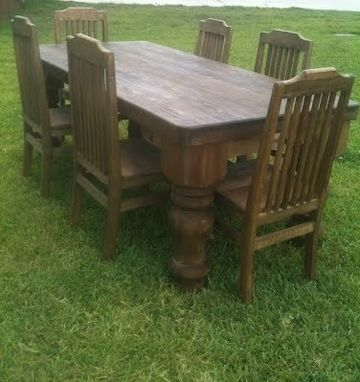 Custom Made Rustic 7 Ft Table