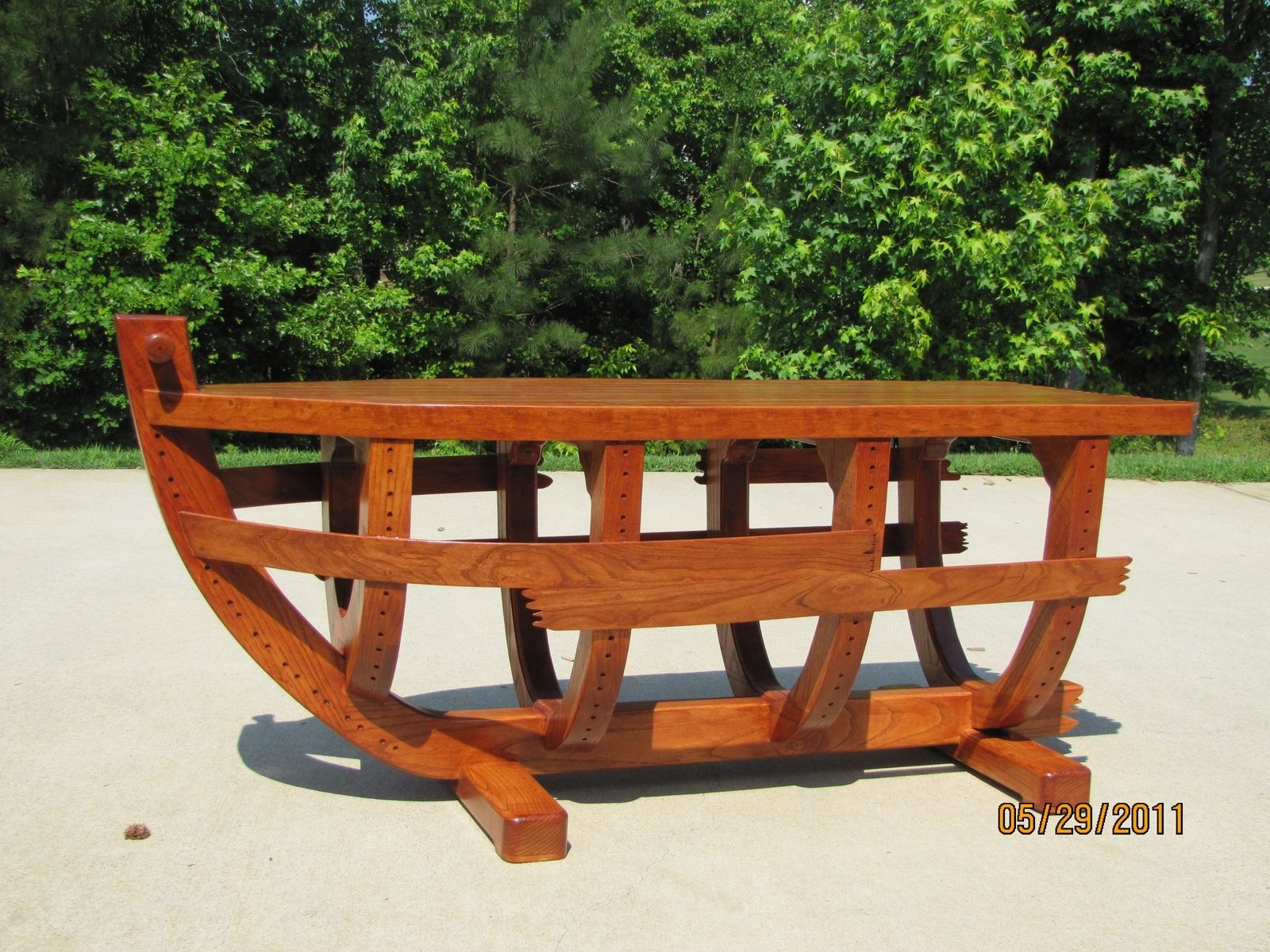 Hand Made Boat Coffee Table by LTL Wood Creations
