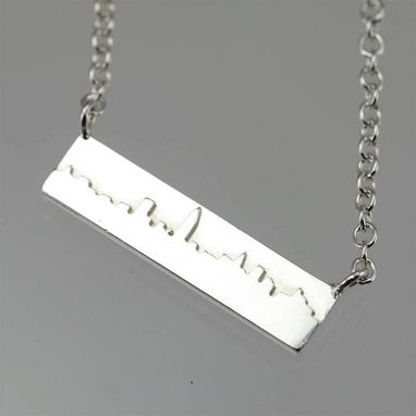"Custom Made New York Skyline Necklace In Sterling Silver (16"")"