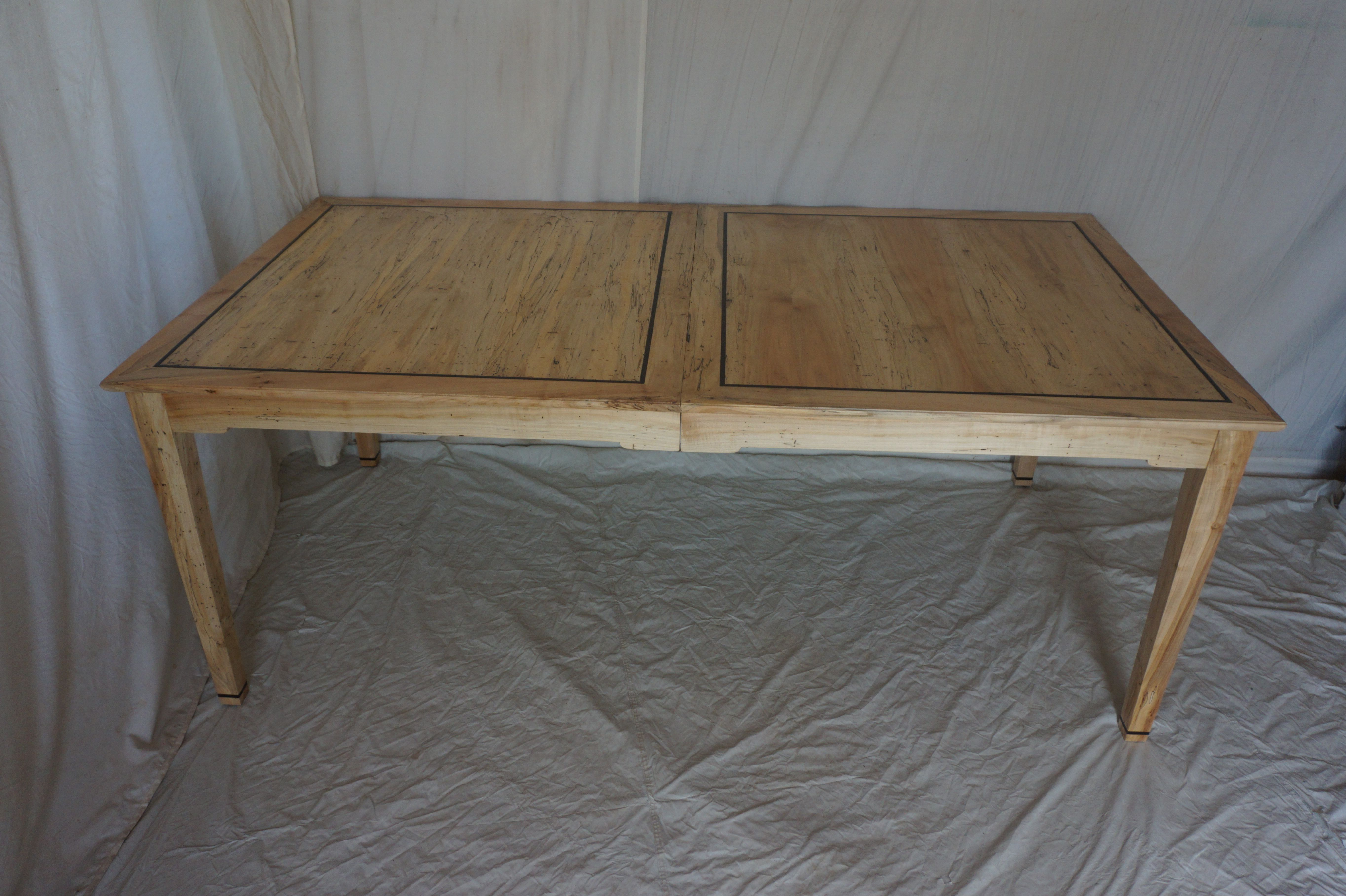 Hand Crafted Spalted Maple Dining Table Extends To Seat 8