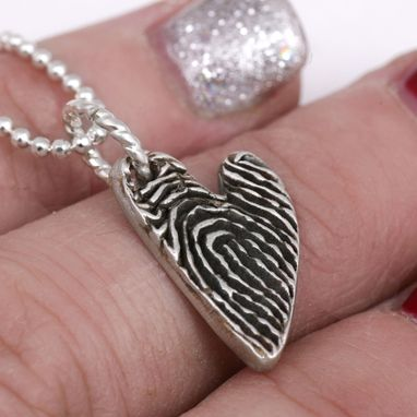 Custom Made Custom Sterling Silver Fingerprint Pendant Design