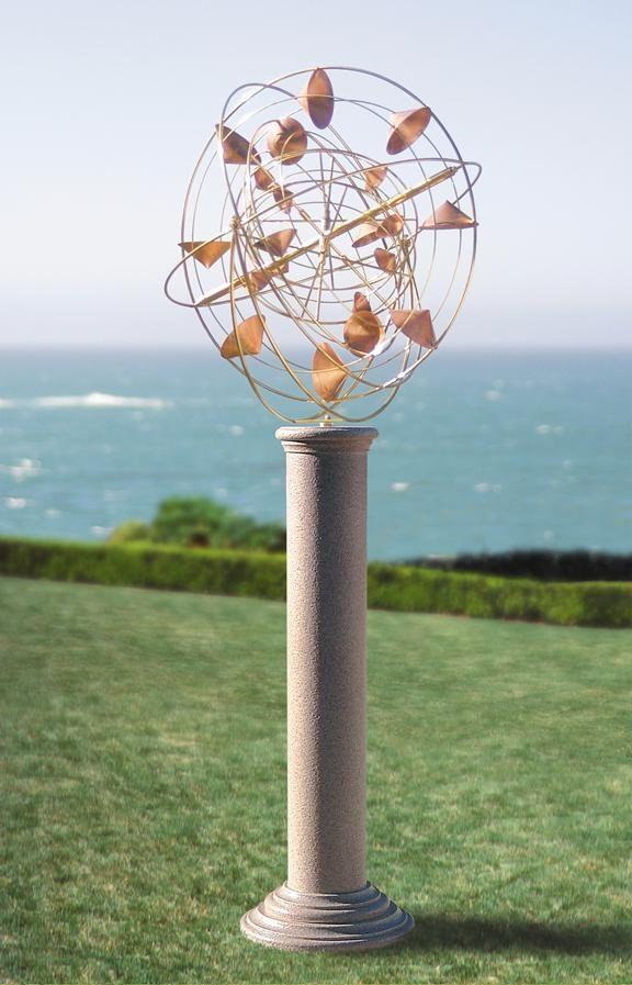 Handmade Stratasphere Kinetic Windsculpture By Heitzman
