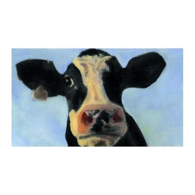 Custom Made Holy Cow Magnet - Funny Cow Face - Cow Art Magnet