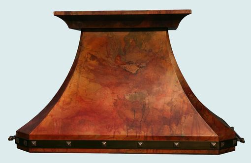 Custom Made Copper Range Hood With Old World Patina