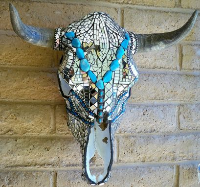 Custom Made Stained Glass Mosaic Skulls