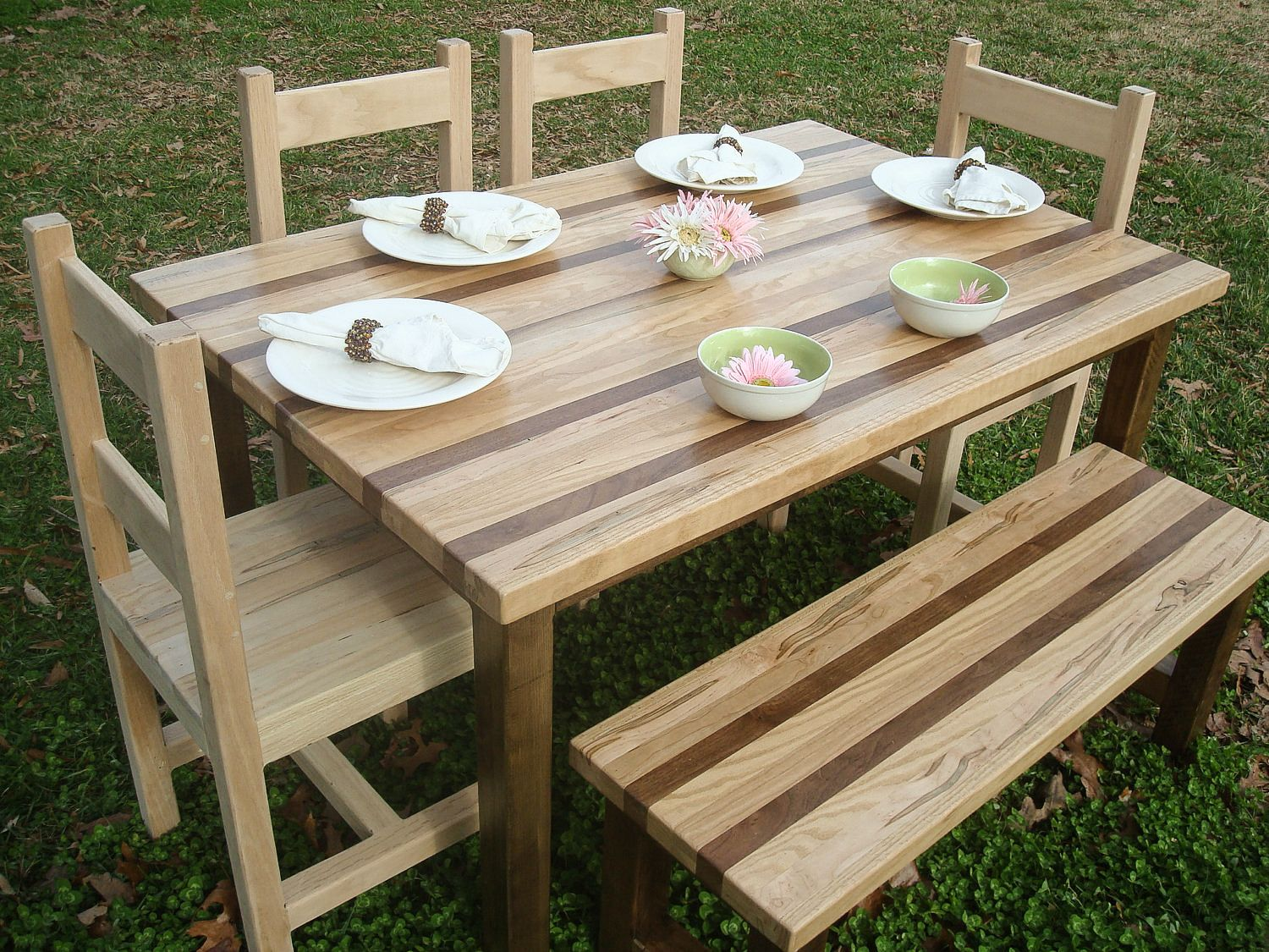 Buy A Custom Made Walnut Oak Wormy Maple And Cherry Butcherblock Dining Table Made To Order