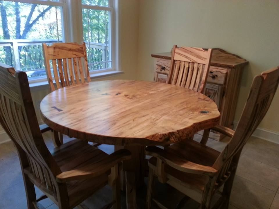 custom made round ambrosia maple dining table - Maple Kitchen Table