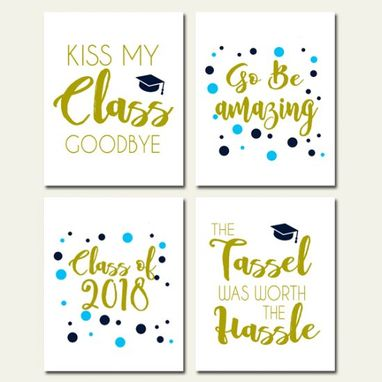 Custom Made Graduation Gift Canvas Art Wall Decoration Set Of 4