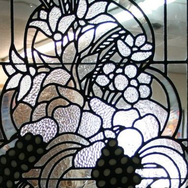 Custom Made Leaded Glass Panel