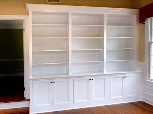 Custom Made Home Office Built-In Bookcases