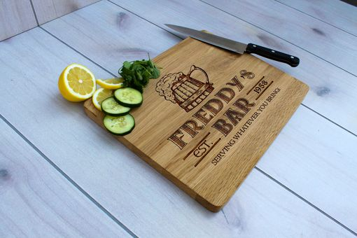 Custom Made Personalized Cutting Board, Engraved Cutting Board, Custom Wedding Gift – Cb-Wo-Freddy's Bar