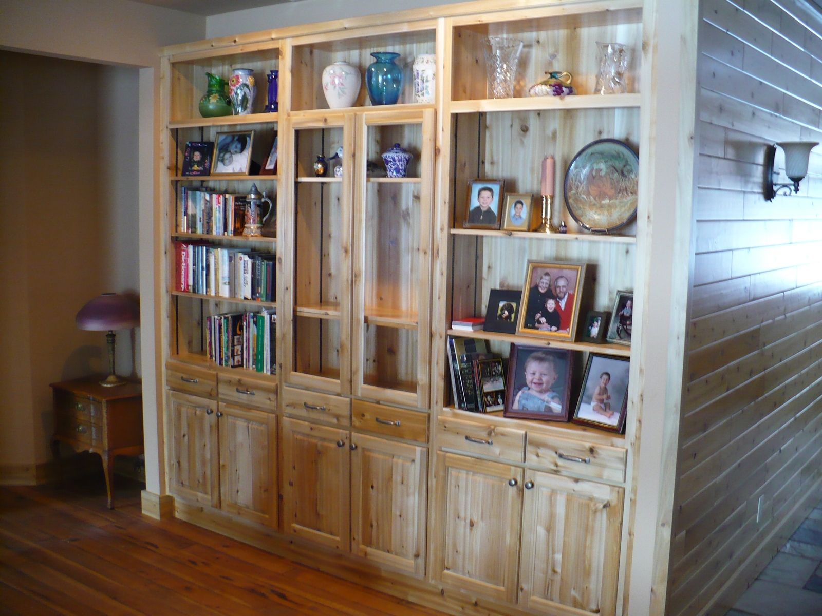 Hand Crafted White Cedar Wall Unit by Harry\'s Cabin Furniture ...