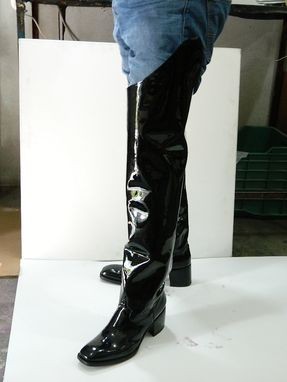 ef3413dc330 Handmade Black Glossy Patent Leather Boots Outside 32¨Tall Inside 26 ...