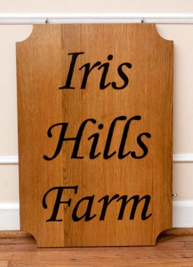 Custom Made Hand Burnt Wood Signs
