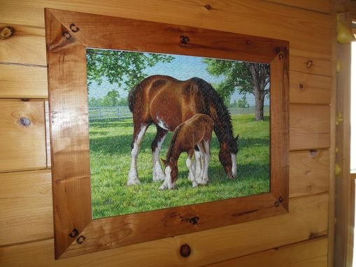 Custom Made Western Puzzle Frame