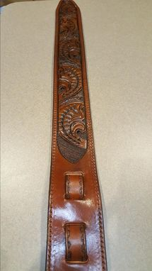 Custom Made Custom Hand Tooled Guitar Straps