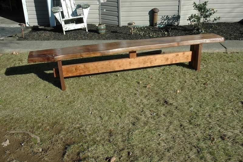 Custom Walnut Live Edge Bench By Wooden It Be Nice