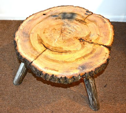 Custom Made Holyoke Stool/Accent Or Coffee Table .Wood And Steel