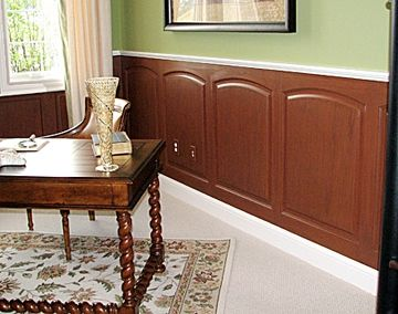 Custom Made Home Office Custom Wainscoting Faux Finish – Bentley Style