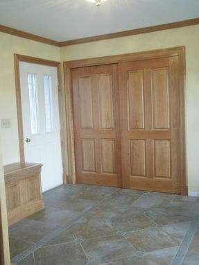 Custom Made Entry With Window Seats And Corner Table