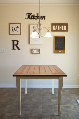 Custom Made Weathered Farmhouse Table