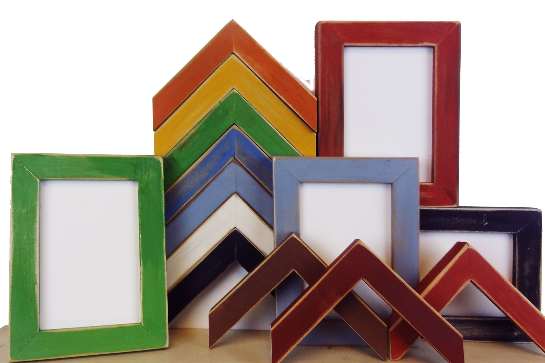 Hand Crafted Handmade Picture Frames - Hand Distressed Milk Paint ...
