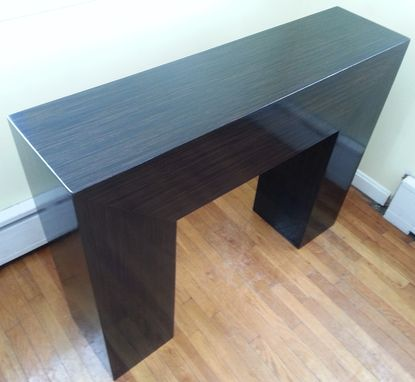 Custom Made High Gloss Ebony Console Table