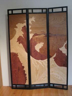 Custom Made Marquetry Screen