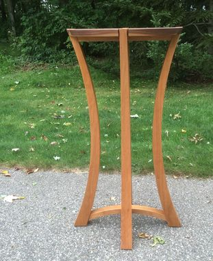 Custom Made Cherry And Walnut Display Pedestal