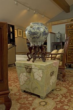 Custom Made Decorative Painting Project- Side Table/Box In Private Residence