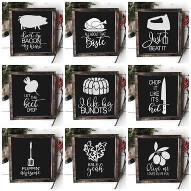 Custom Made Funny Farmhouse Kitchen Signs