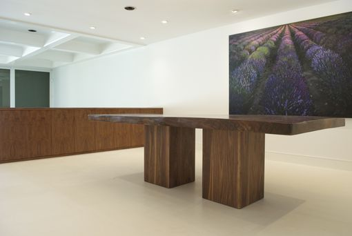 Custom Made Walnut Slab Dining Table