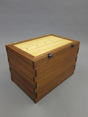 Custom Made Sapele Wedding Chest With Handcut Joinery