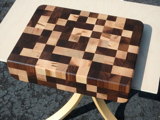 Custom Made Random Pattern Walnut/Wormy Maple Endgrain Counter Edge Cutting Board