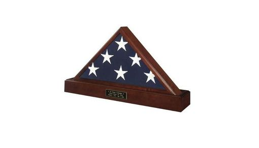 Custom Made Military Flag Case And Pedestal Urn