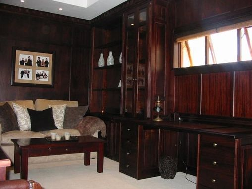 Custom Made Mahogany Study
