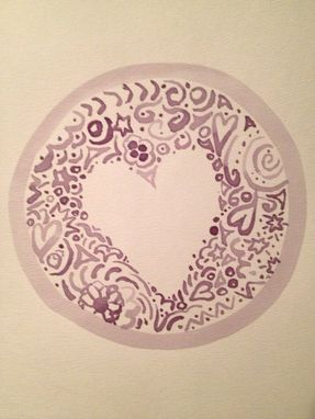 Custom Made Wine Love - Original 11x14 Wine On Watercolor Paper