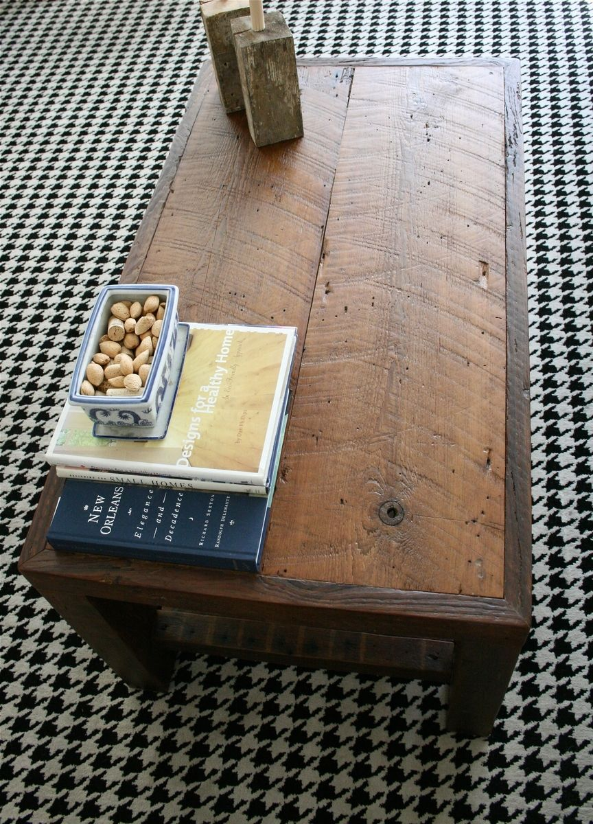 Hand Crafted The Rustic Coffee Table Made From New Orleans
