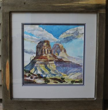 Custom Made 15x15 Watercolor Painting  'Dos Mesas'.