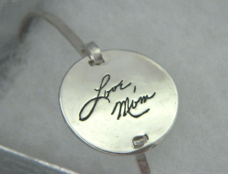 Buy A Hand Made In Memory Handwriting Bracelet Your Loved