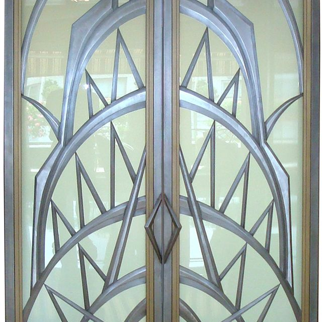 Custom made art deco doors by eric david laxman custommade sciox Images