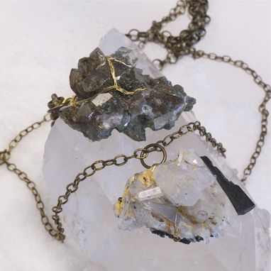 Custom Made Mineral & Crystal Cluster Necklaces