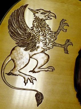 "Custom Made Blueberry Custom ""Griffin"" Acoustic Guitar"