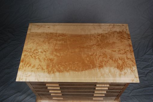Custom Made Birds Eye Maple Six Drawer Jewelry Chest #1
